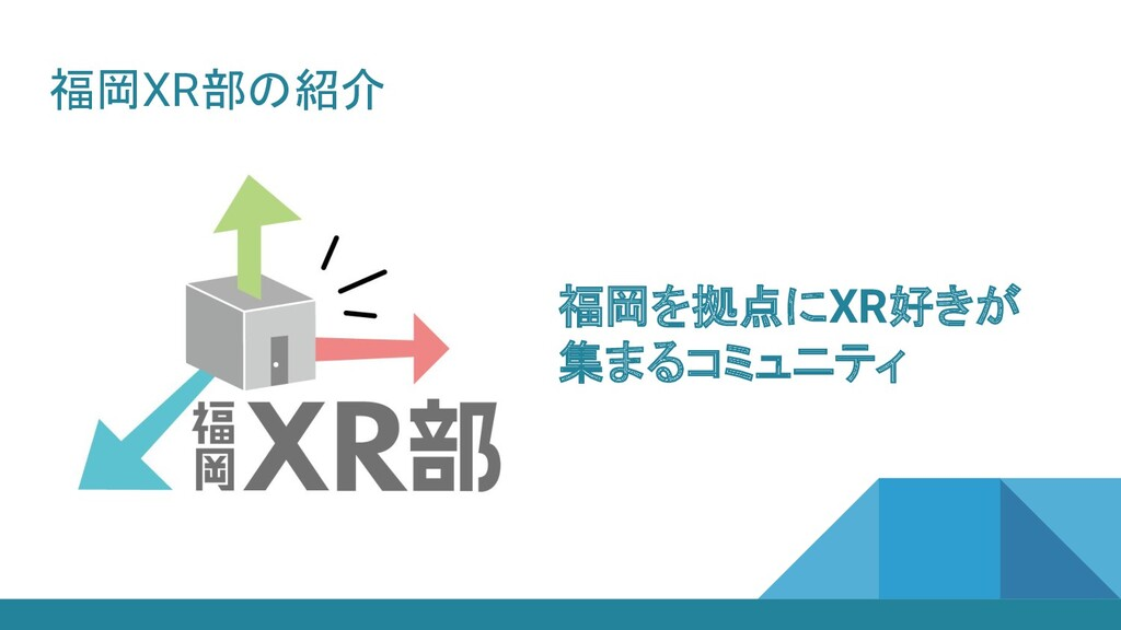福岡XR部の紹介 福岡を拠点にXR好きが 集まるコミュニティ