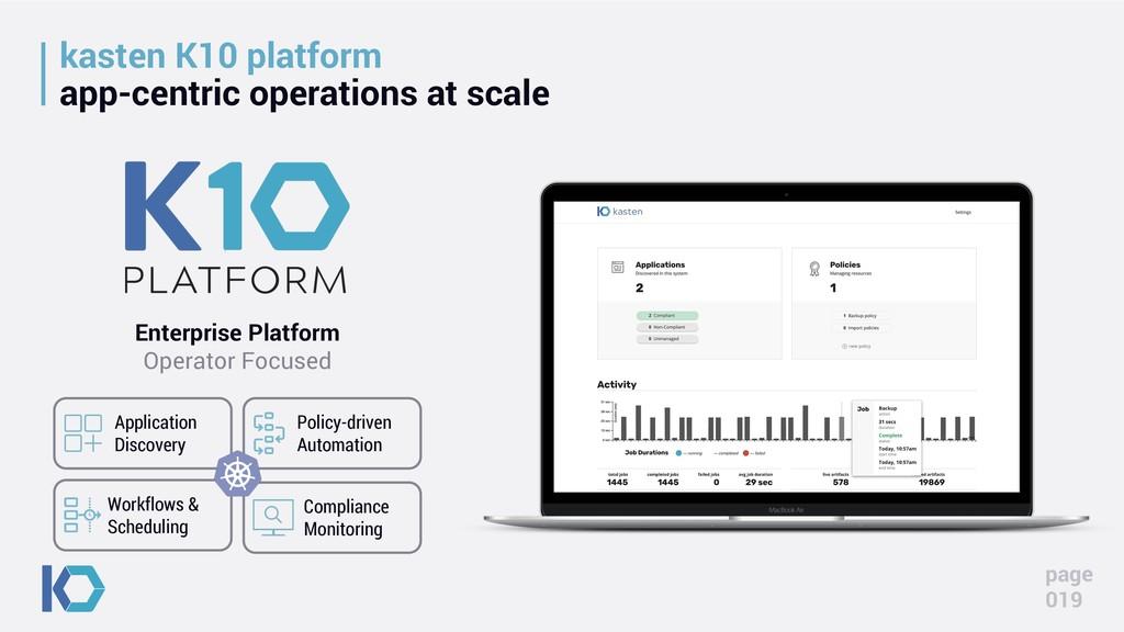 kasten K10 platform app-centric operations at s...