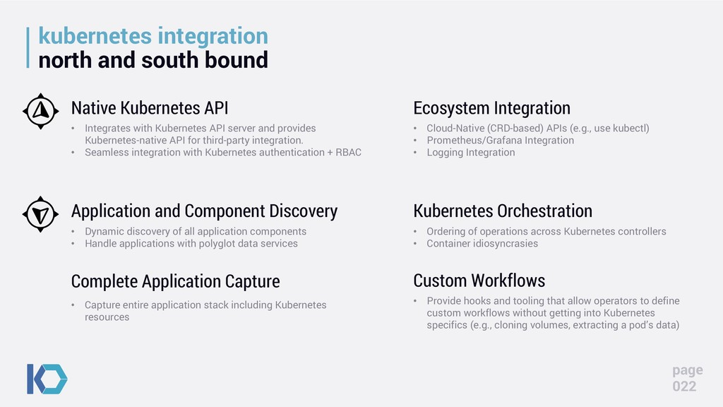 kubernetes integration north and south bound pa...