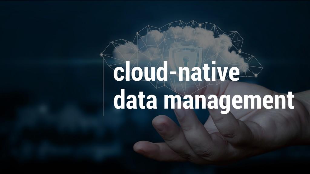 cloud-native data management