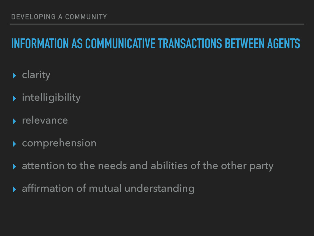 DEVELOPING A COMMUNITY INFORMATION AS COMMUNICA...
