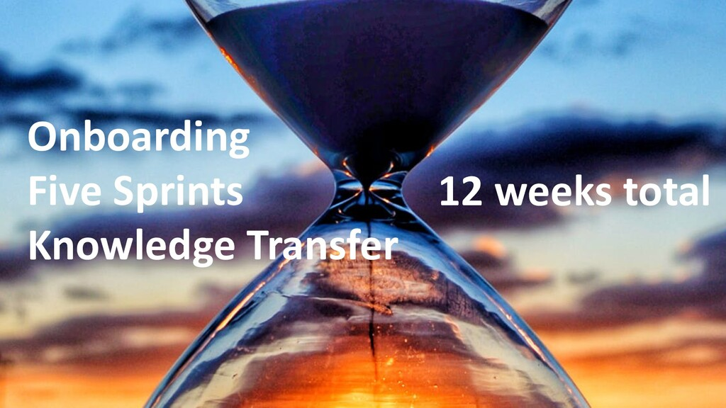 Onboarding Five Sprints Knowledge Transfer 12 w...