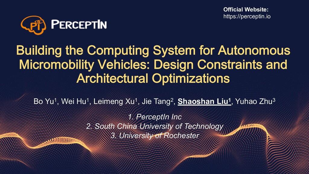 Building the Computing System for Autonomous Mi...