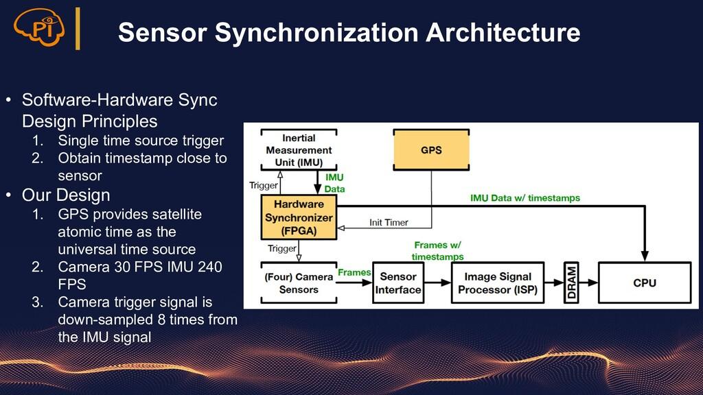 Sensor Synchronization Architecture • Software-...