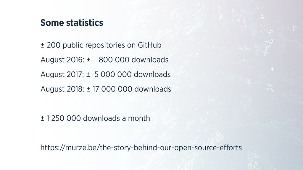 Some statistics ± 200 public repositories on Gi...