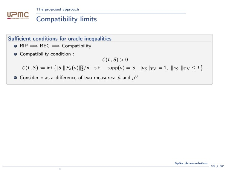 The proposed approach Compatibility limits Suffic...