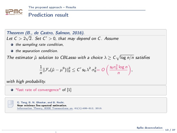The proposed approach – Results Prediction resu...