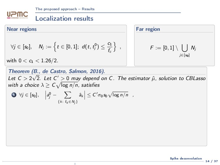 The proposed approach – Results Localization re...