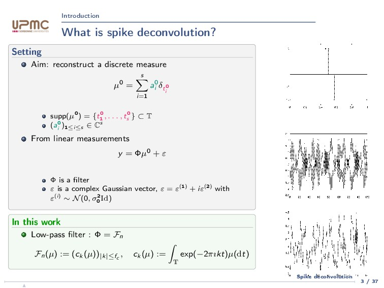 Introduction What is spike deconvolution? Setti...