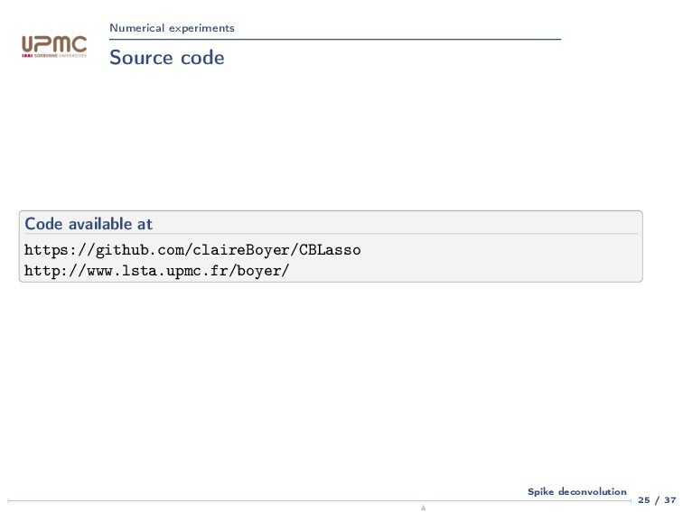 Numerical experiments Source code Code availabl...