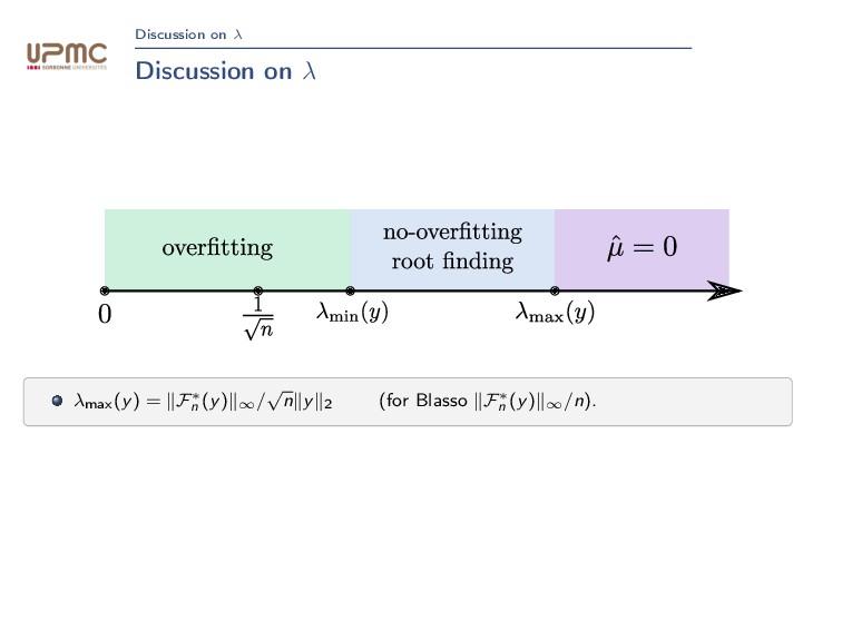 Discussion on λ Discussion on λ λmax(y) = F∗ n ...