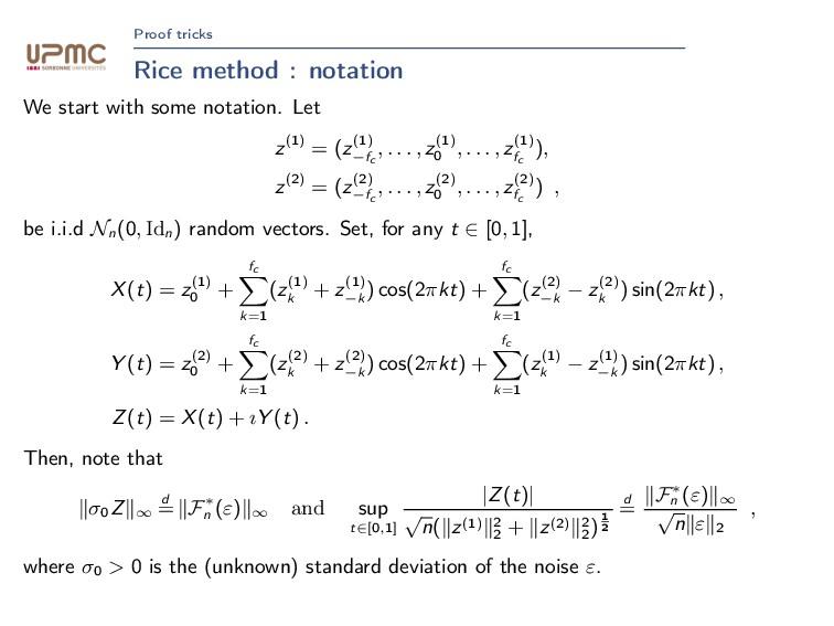 Proof tricks Rice method : notation We start wi...