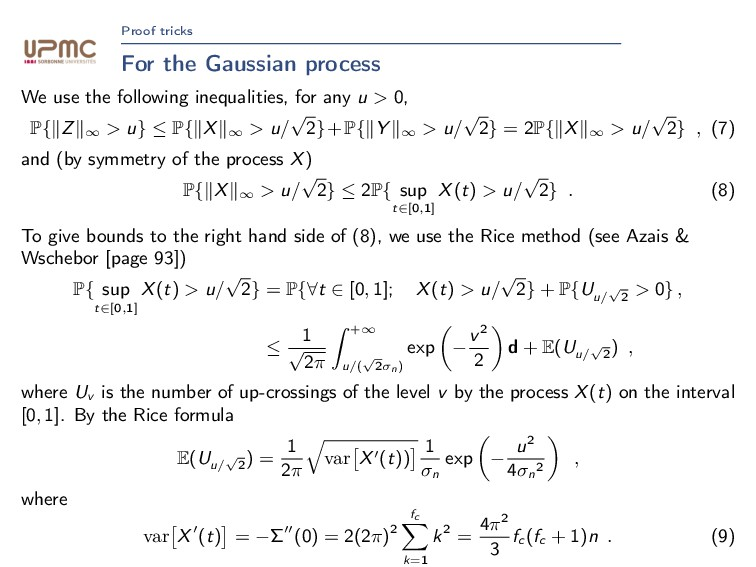 Proof tricks For the Gaussian process We use th...