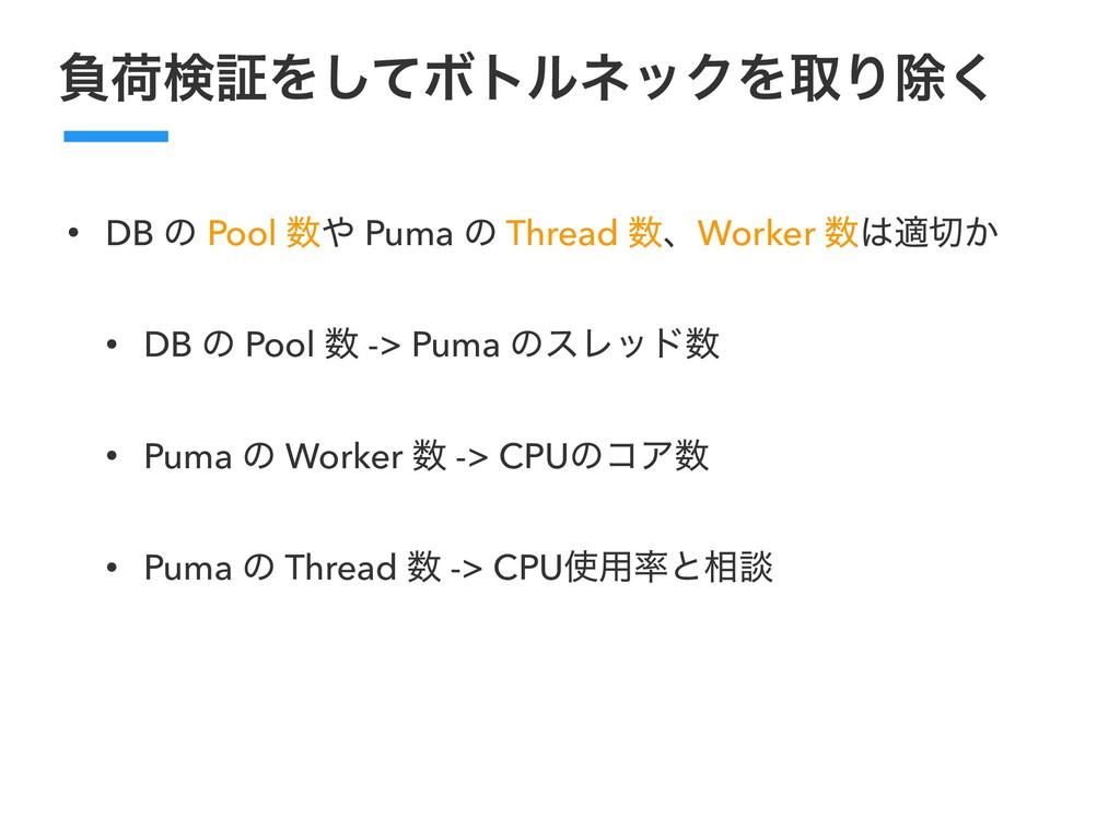 ෛՙݕূΛͯ͠ϘτϧωοΫΛऔΓআ͘ • DB ͷ Pool  Puma ͷ Thread...