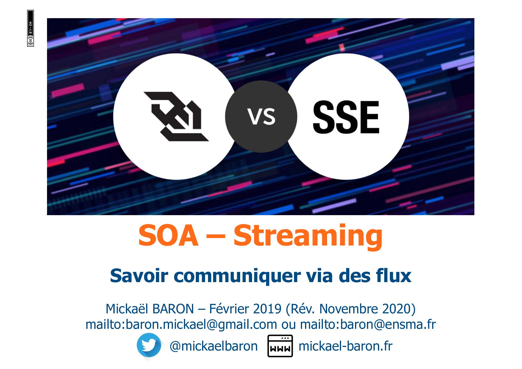 SOA – Streaming Mickaël BARON – Février 2019 ma...
