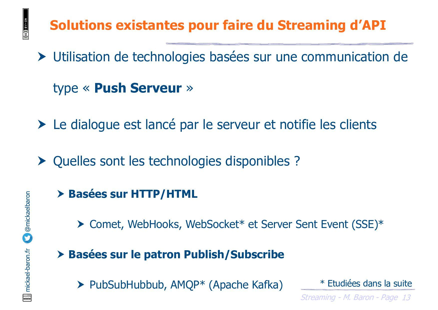 Streaming - M. Baron - Page mickael-baron.fr @m...