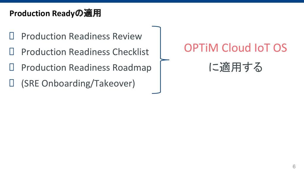 6 OPTiM Cloud IoT OS に適用する Production Readyの適用