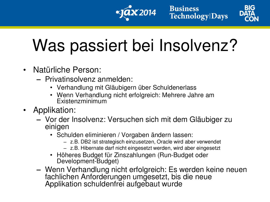 Was passiert bei Insolvenz? • Natürliche Person...