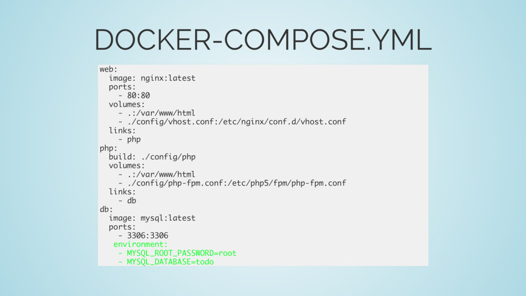 DOCKER-COMPOSE.YML web: image: nginx:latest por...