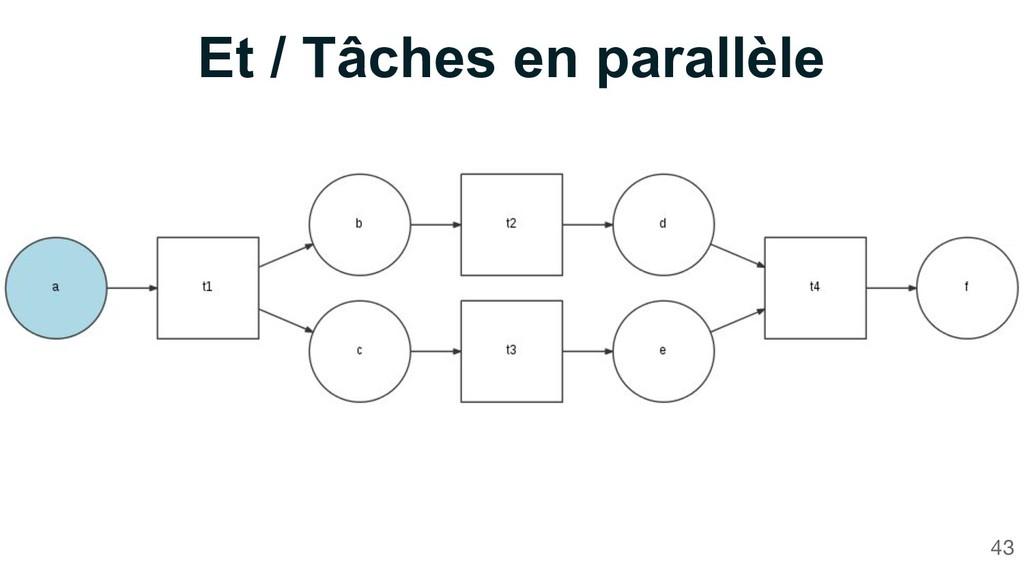 Et / Tâches en parallèle 43