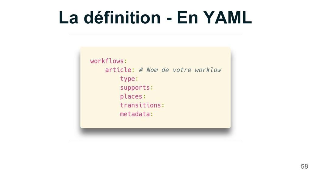 La définition - En YAML 58