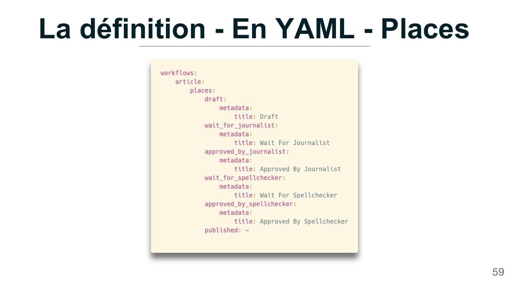 La définition - En YAML - Places 59