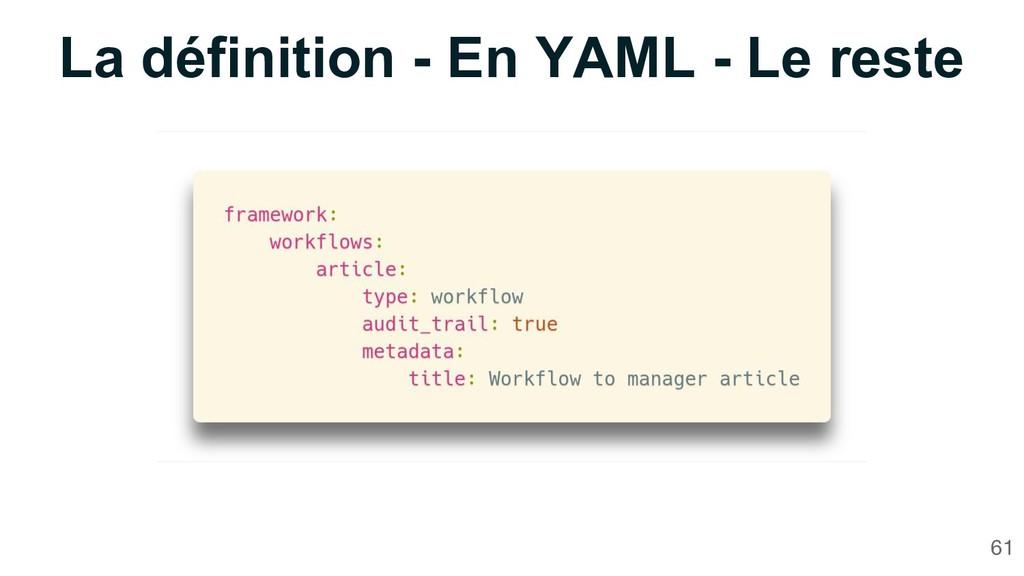 La définition - En YAML - Le reste 61
