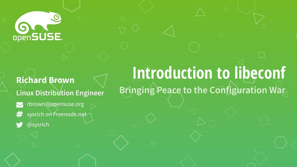 Introduction to libeconf Bringing Peace to the ...