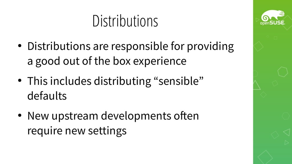 Distributions ● Distributions are responsible f...