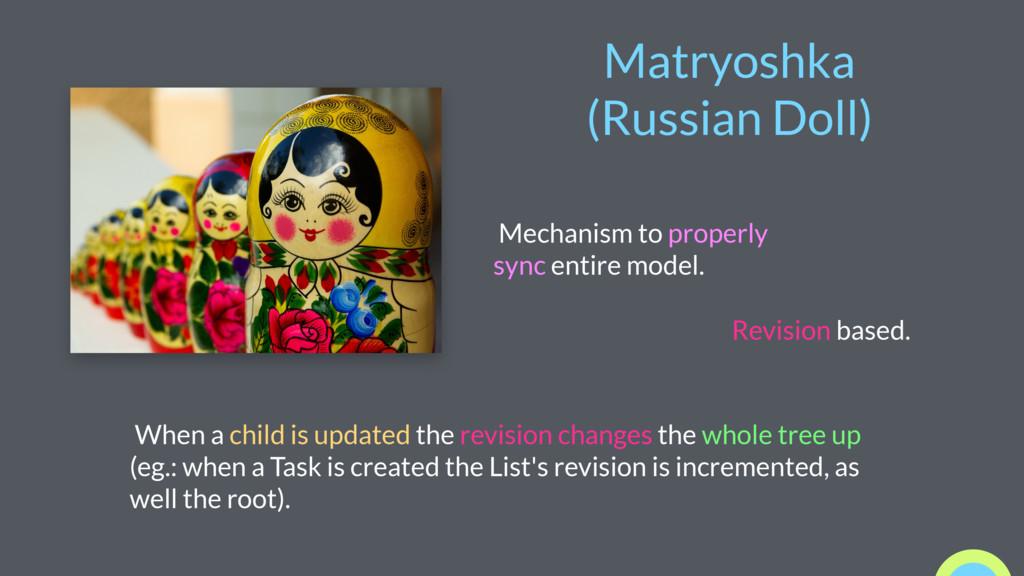 Matryoshka (Russian Doll) Mechanism to properly...
