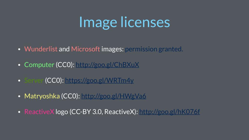 Image licenses • Wunderlist and Microsoft image...