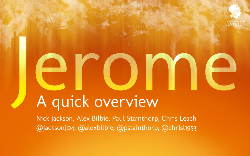 A quick overview Nick Jackson, Alex Bilbie, Pau...