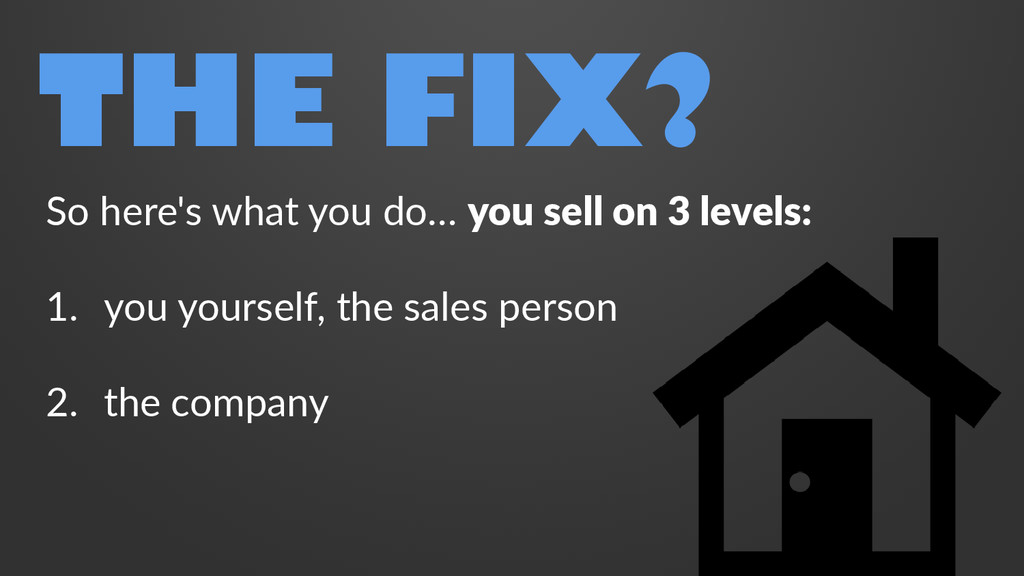 THE FIX? So here's what you do… you sell on 3 l...