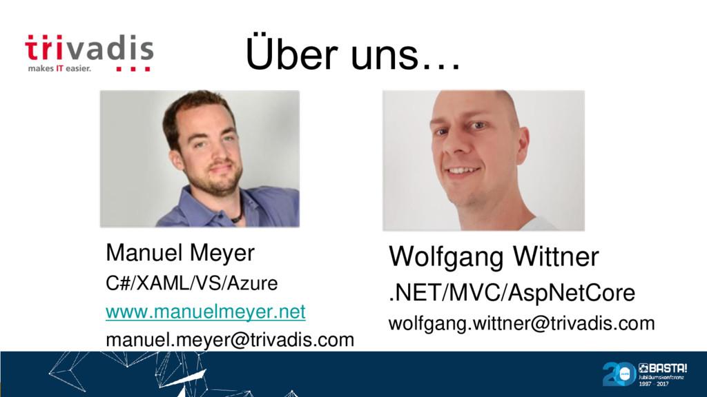 Über uns… Wolfgang Wittner .NET/MVC/AspNetCore ...