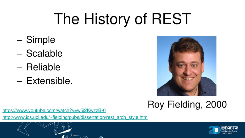The History of REST – Simple – Scalable – Relia...