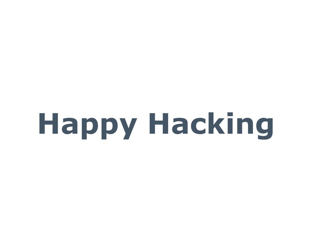 Happy Hacking
