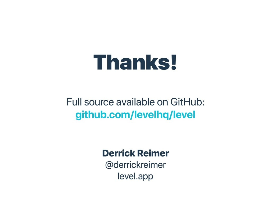 Thanks! Full source available on GitHub: github...
