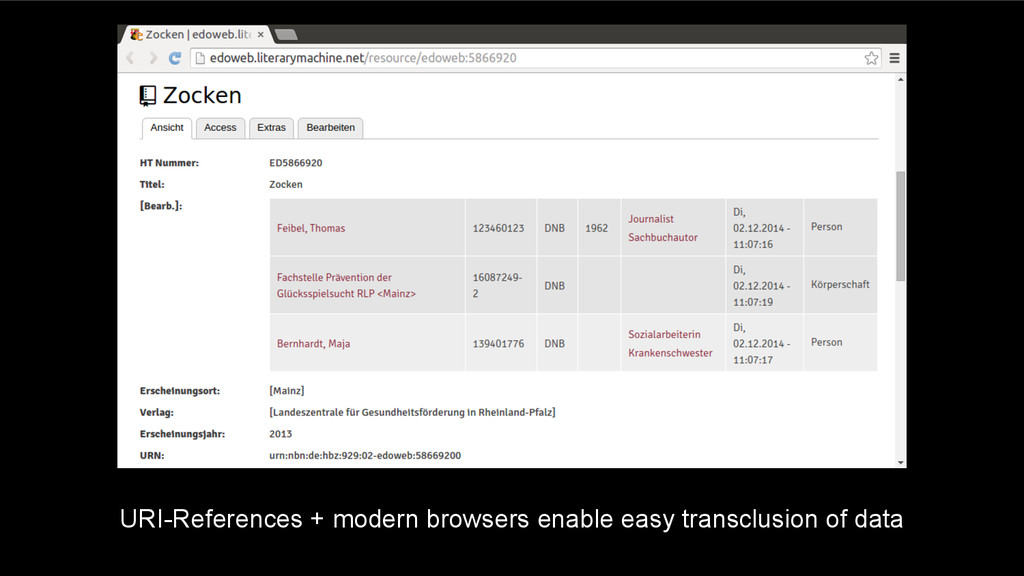 URI-References + modern browsers enable easy tr...