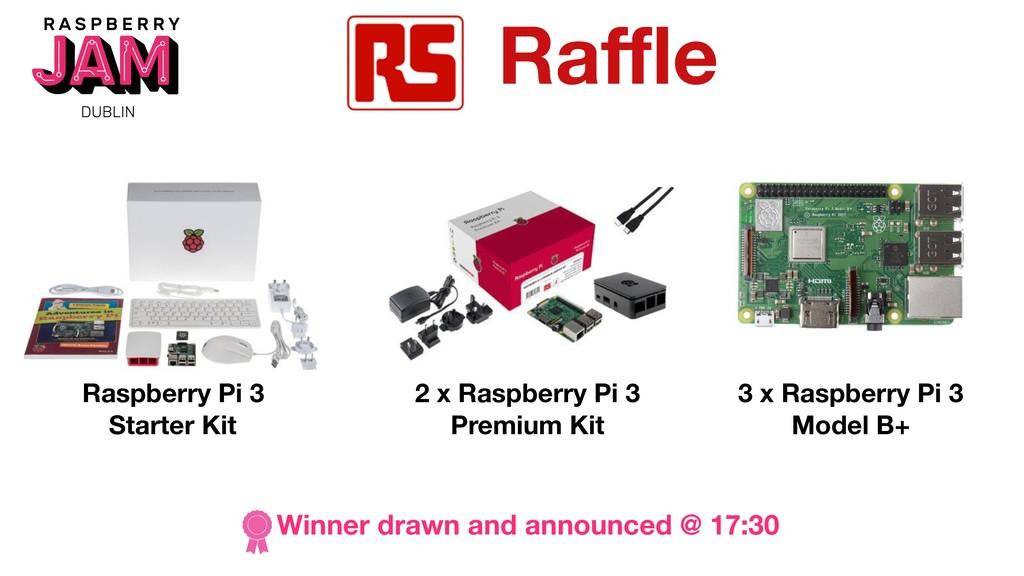 Raffle Raspberry Pi 3 Starter Kit Winner drawn an...