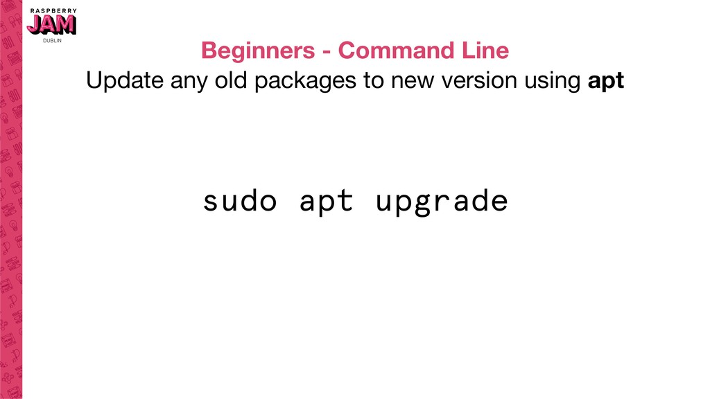 Beginners - Command Line Update any old package...