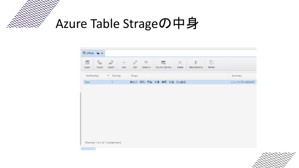 Azure Table Strageの中身