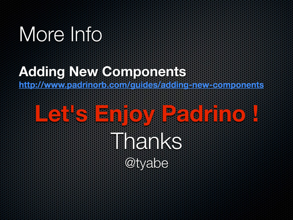 Let's Enjoy Padrino ! Thanks @tyabe More Info A...