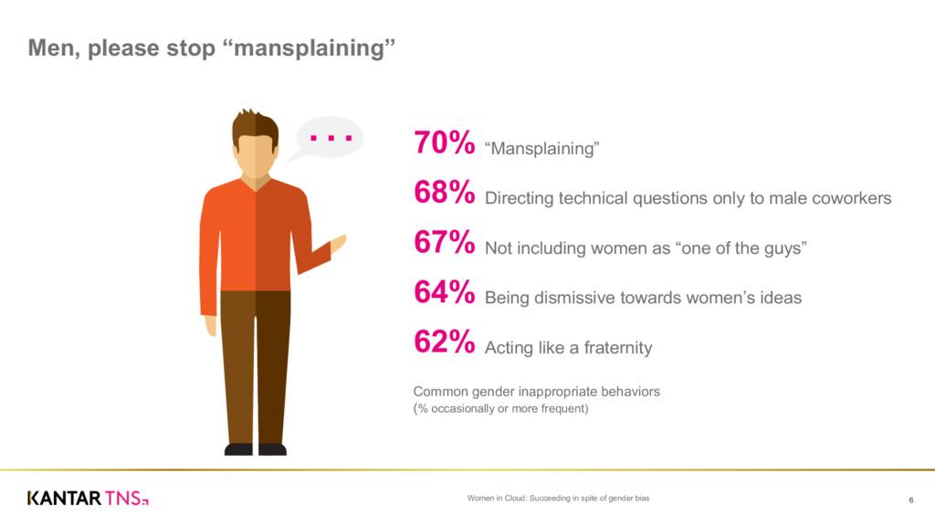 """Men, please stop """"mansplaining""""   Women i..."""