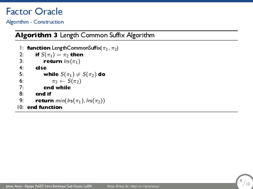 Factor Oracle Algorithm - Construction Algorith...
