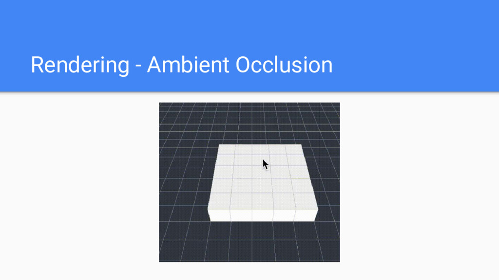 Rendering - Ambient Occlusion