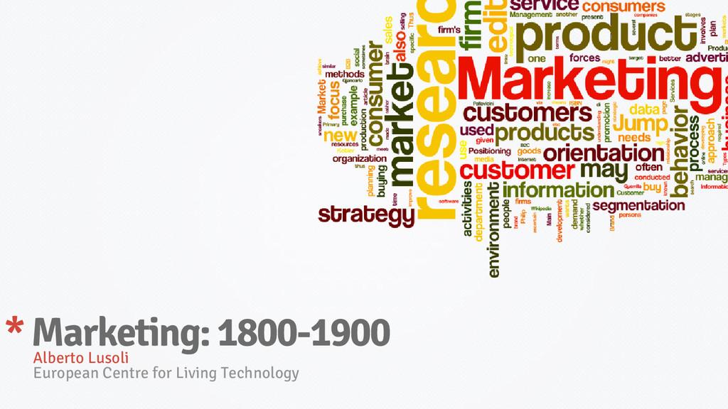 Alberto Lusoli European Centre for Living Techn...
