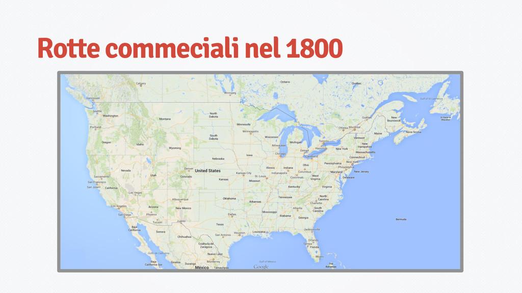 Rotte commeciali nel 1800