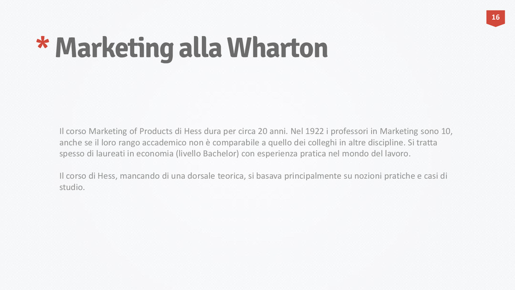 * Marketing alla Wharton 16 Il corso Marketing ...