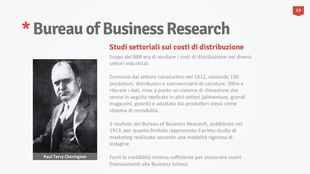 * Bureau of Business Research Paul Terry Cherin...