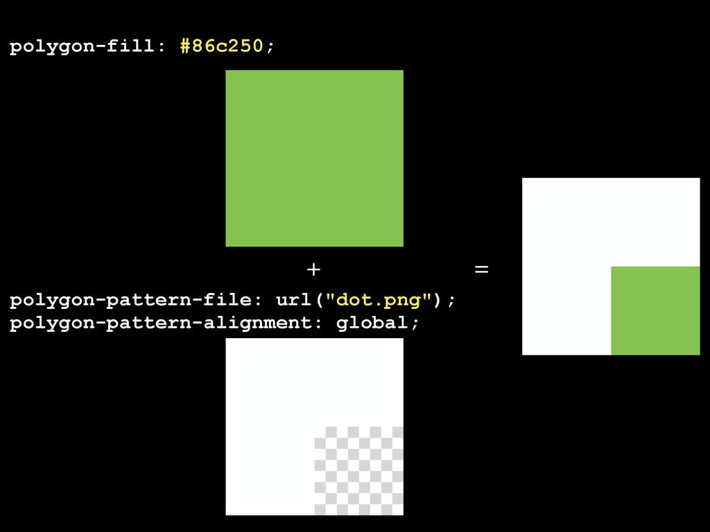 """polygon-pattern-file: url(""""dot.png""""); polygon-p..."""